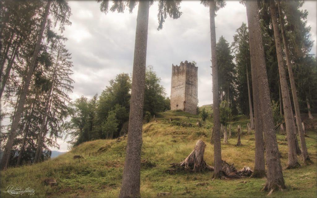 Ruine Rosegg und Burghügel