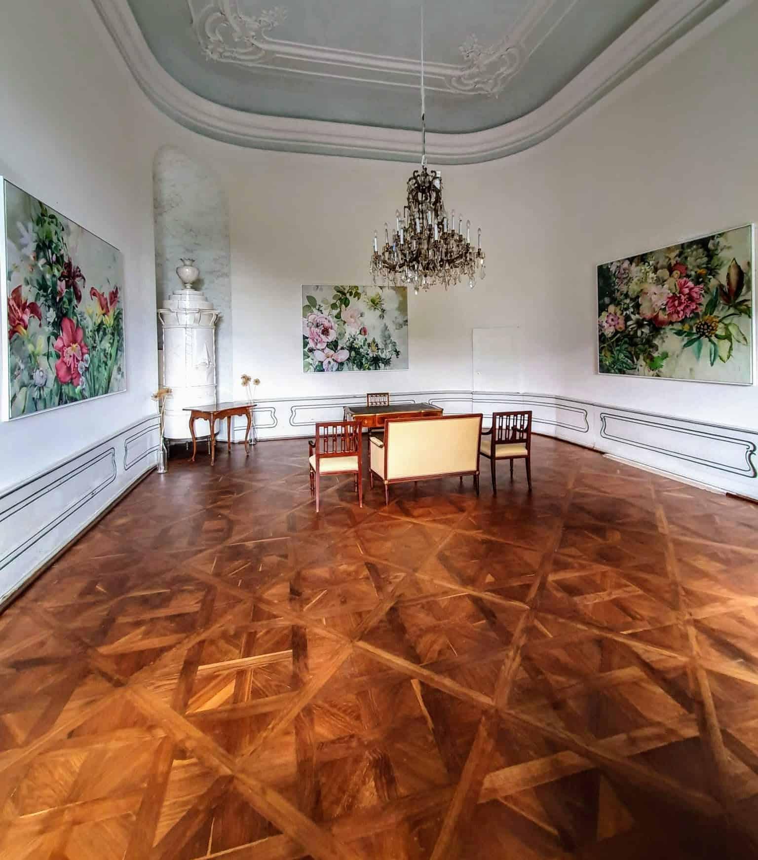 Trauungssaal im Schloss Rosegg in Kärnten, Österreich