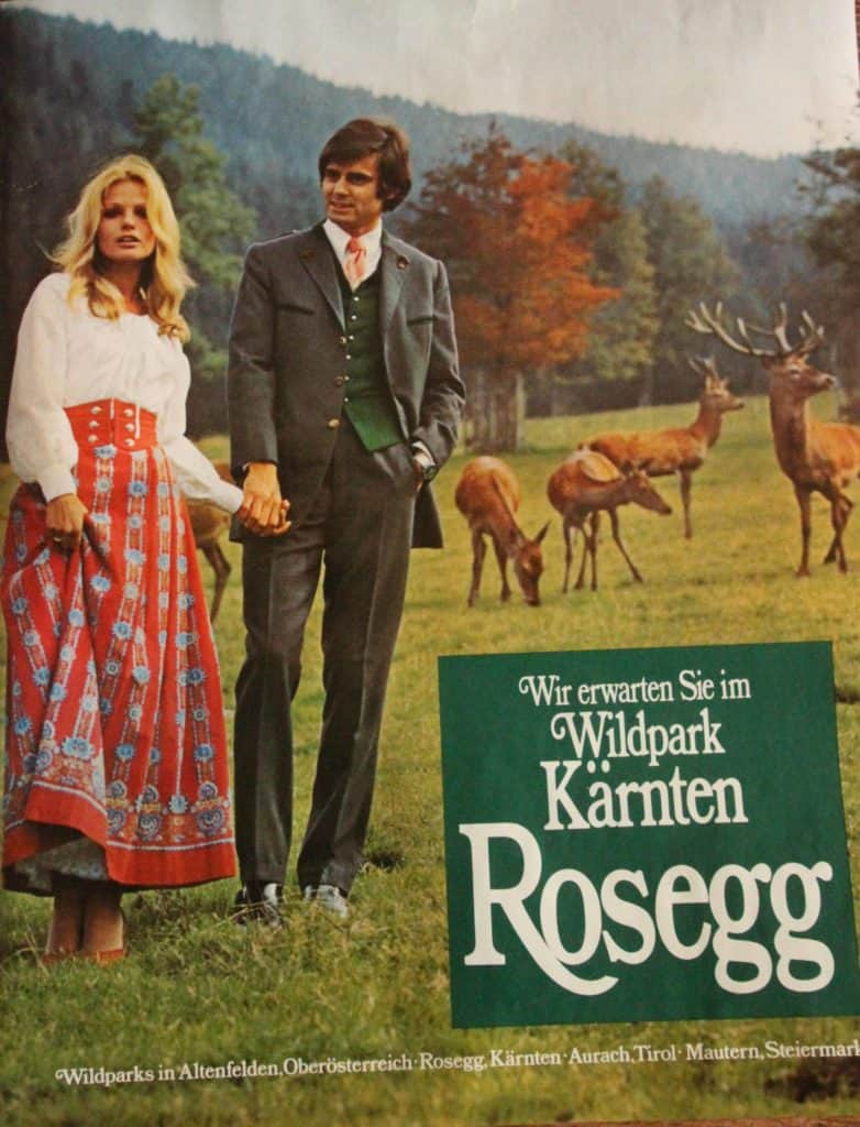 Retro Plakat 70er Wildpark Rosegg Österreich
