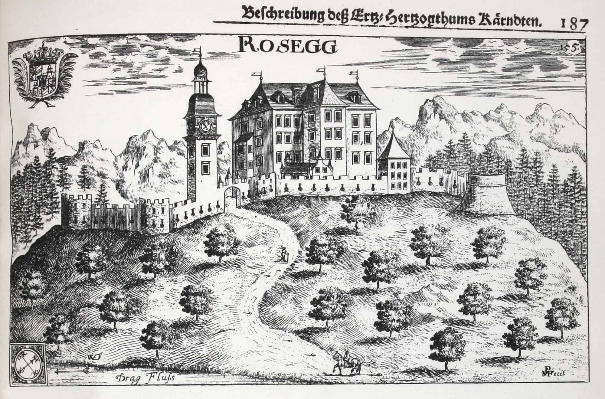 Burg Rosegg 1688