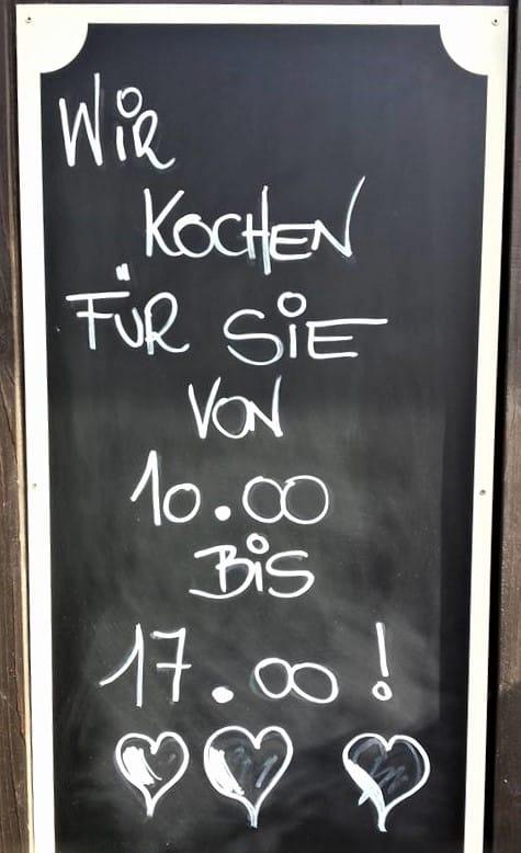 Info warme Küche Hirschenwirtin Rosegg