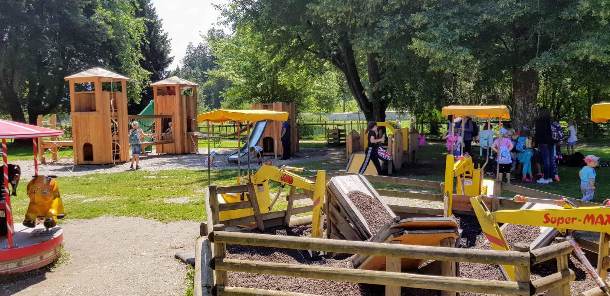 Kinderspielplatz im Tierpark Rosegg