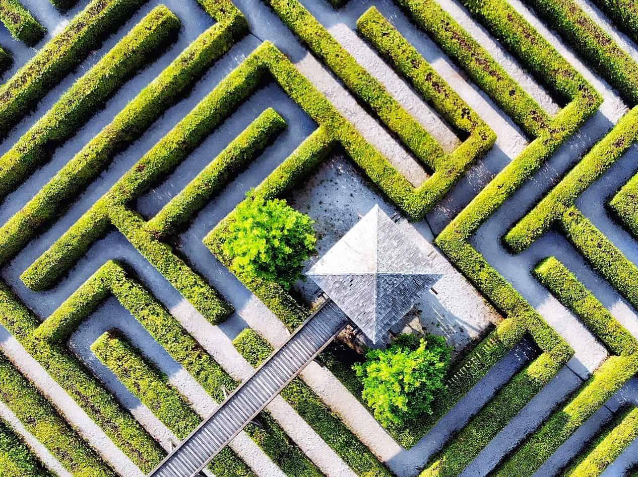 Labyrinth in Rosegg Nähe Wörthersee, Kärnten