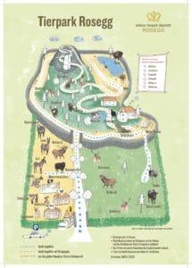 Lageplan Tierpark Rosegg